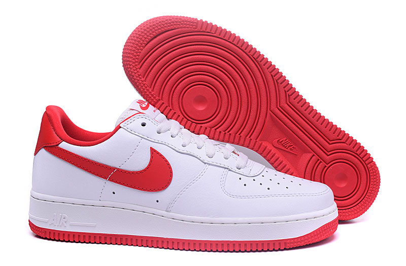 air force 1 homme blanc rouge